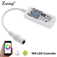 DC 12 V Mini WIFI LED RGB Controlador Com DC Feminino pelo Controle do Smartphone Para SMD 5050 2835 RGB LED Strip luz