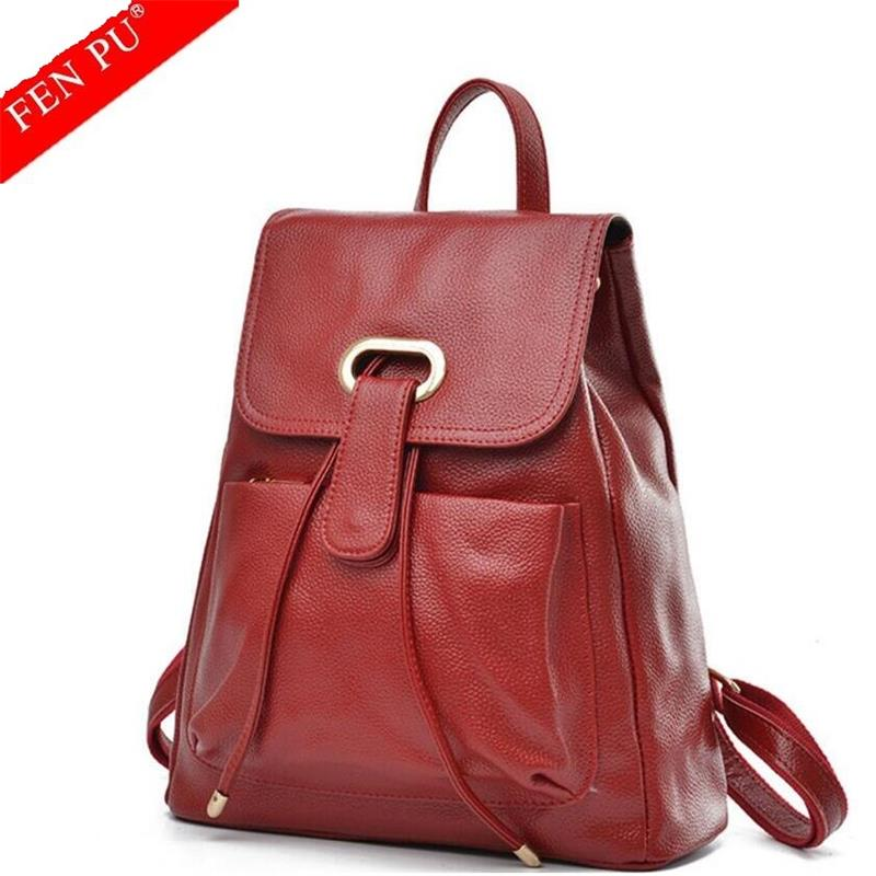 2017 New Famous Brand Backpack Cowhide Women Backpacks Solid Vintage Girls School Bags for Girls Genuine Leather Women Backpack genuine leather bag 2017 famous brand backpack women backpacks solid vintage girls school bags for girls black leather backpack