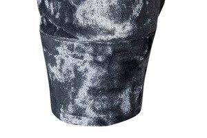 Image 5 - Royal Blue Velvet Velour Shirt Mannen 2019 Herfst Nieuwe Slim Fit Lange Mouw Heren Dress Shirts Casual Button Down Chemise homme