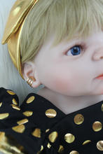 22″ Full Silicone Body Reborn Girl Baby Doll Toys 55cm Newborn Princess Babies Doll Blonde Hair Birthday Gift Kids Brinquedos