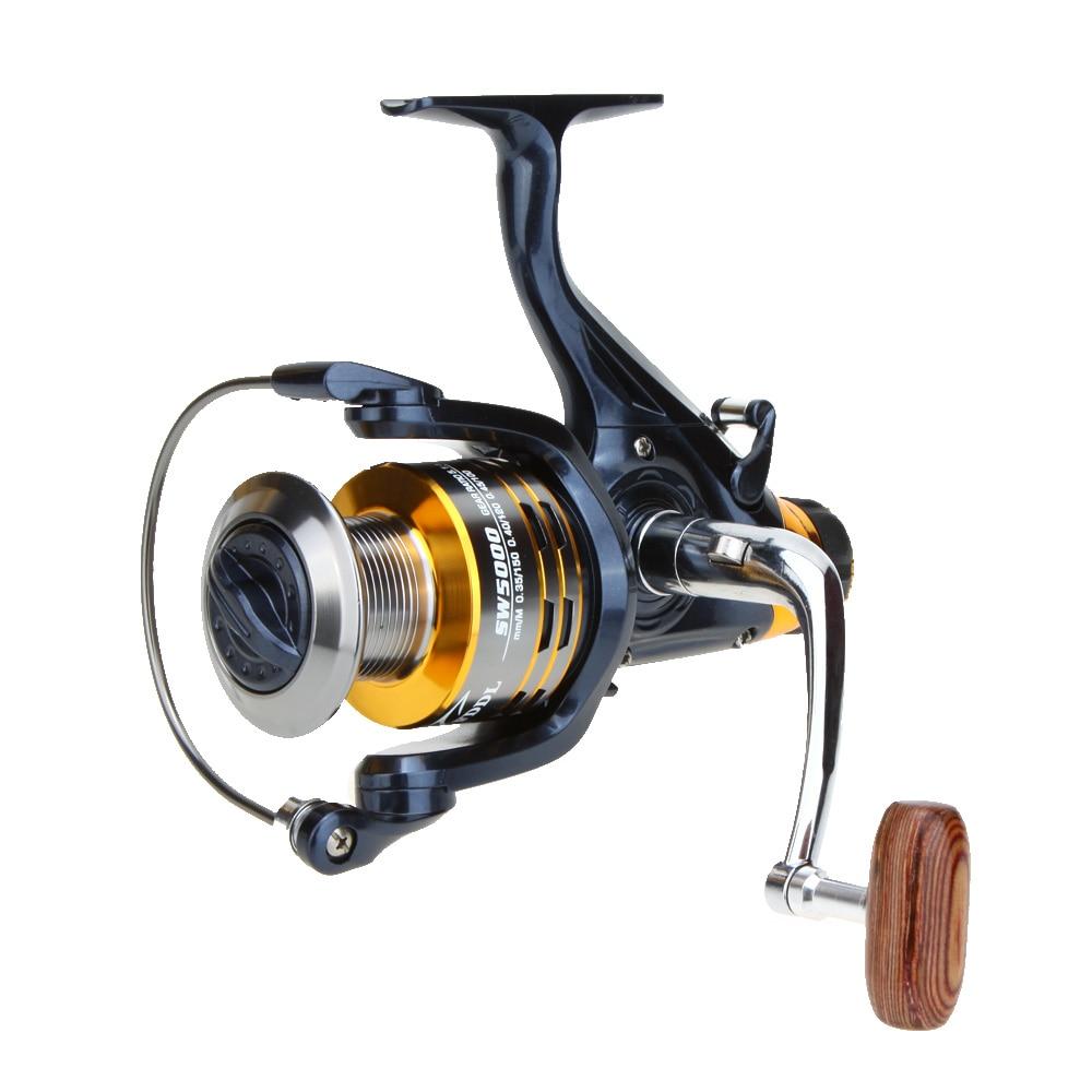 10 + 1BB rodamientos izquierda/derecha intercambiable manija plegable pesca de carpa Metal Spinning Reel 5,1: 1