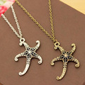 New Vintage Jewelry Retro Bronze Plated Sea Star Necklace Cute Elegant Necklace For Women & Girl Accessories
