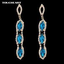 Золотые серьги toucheart модные свадебные подвески с кристаллами