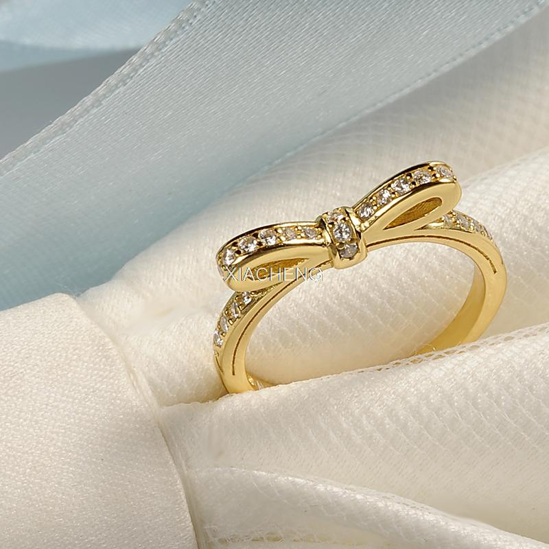49aecaaa5 pandora sparkling bow clear cz ring
