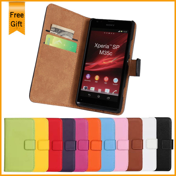 differently 87f5f 1bcf7 US $5.48 15% OFF|Black Side Flip Leather Case For Sony Xperia SP 4G M35h  Cover C5302 C5303 C5306 Wallet Pouch Cover with Card Slot Handbag-in Wallet  ...