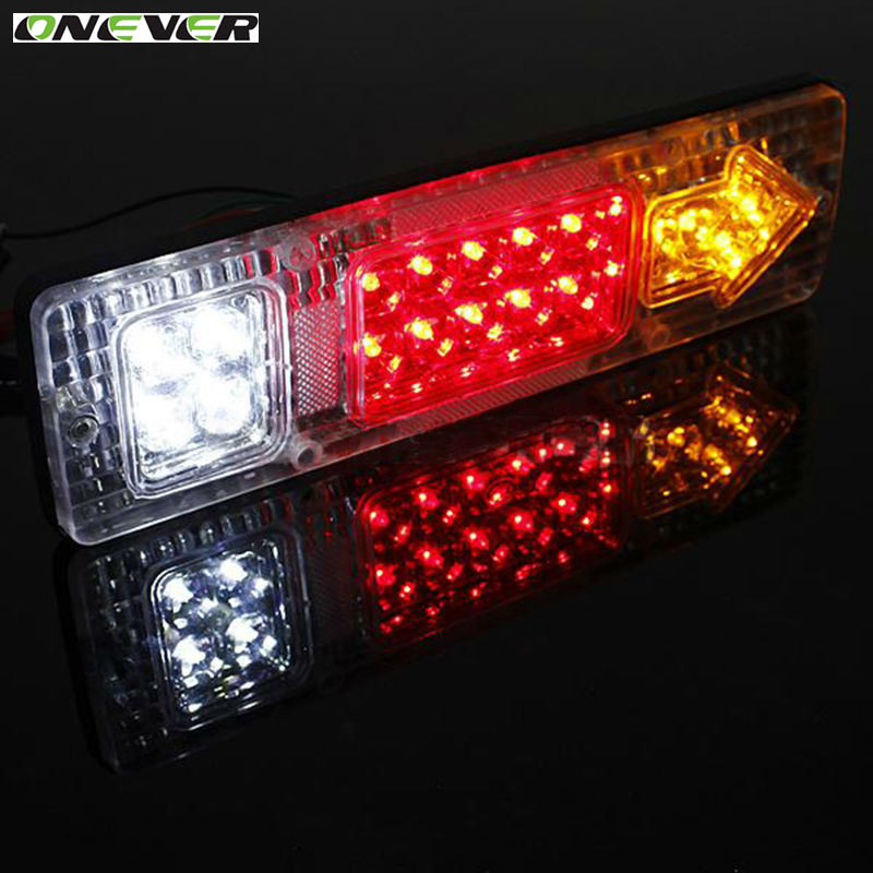 2pcs 24v waterproof 19 atv trailer truck led tail light lamp car trailer taillight reversing. Black Bedroom Furniture Sets. Home Design Ideas