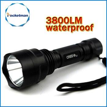 3800lm C8 LED פנס ציד לפיד Q5 Led לפיד אור פנס nitecore עמיד למים עבור 1x18650