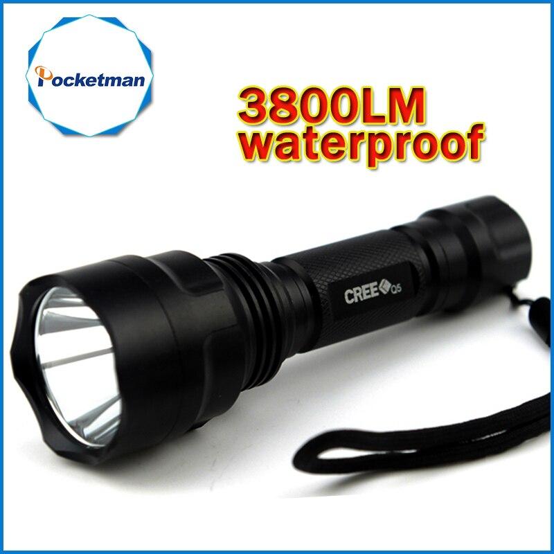 3800lm C8 LED lampe de Poche Chasse Torche Q5 Led Lampe Torche lanterne nitecore Étanche Pour 1x18650