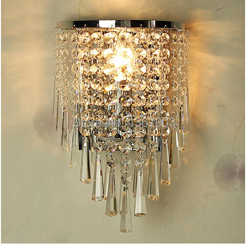 gorgeous k9 crystal wall lights modern lamps fashion. Black Bedroom Furniture Sets. Home Design Ideas