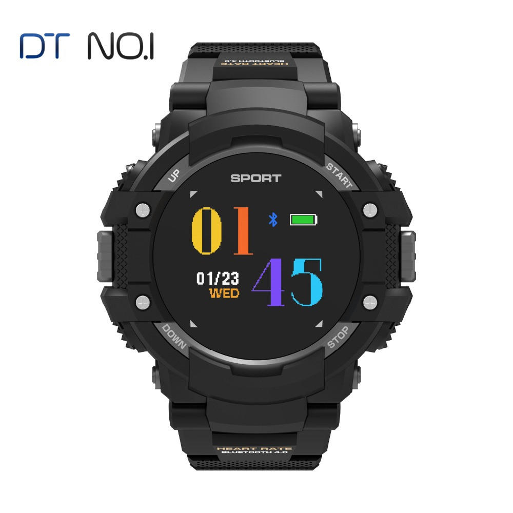 цена DTNO.1 F7 GPS Smart Watch Men IP67 Bluetooth 4.2 Waterproof Altitude Temperature Sports Smartwatch Speed Tracker Heart Rate 2018
