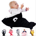 Newborn Baby Sleeping Bag Cotton Shark Baby Stroller Sleeping Bag Sleep Sack Cute Baby Envelope Footmuff