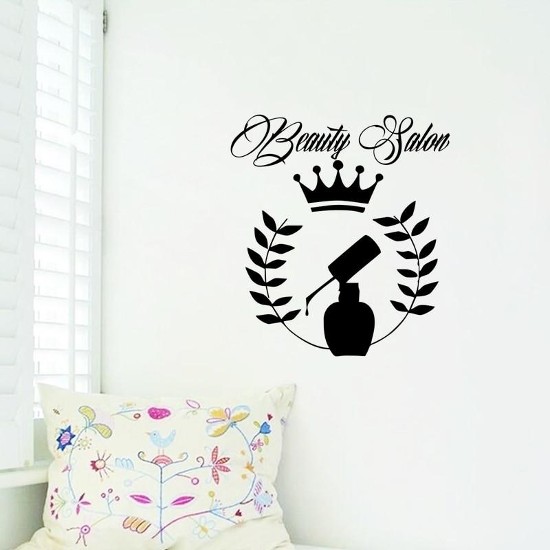 Nail Polish Wall Stickers For Interior Beauty Salon Decorative ...