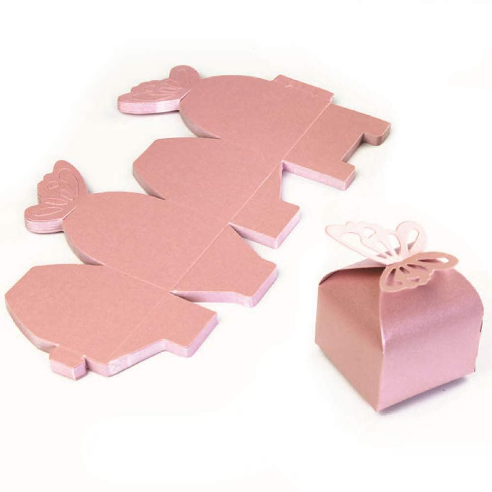 party birthday wedding bridal baby shower gift box Lot 12 Butterfly Favor Boxes
