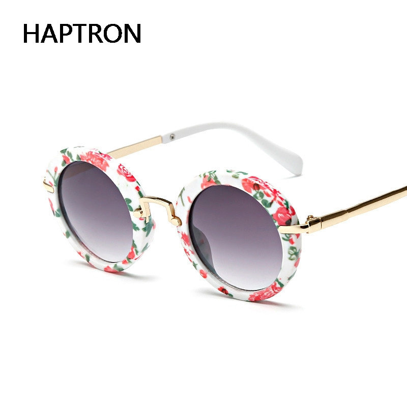 cc83c50f186e HAPTRON new arrival round lovely kids sunglasses girls fashion goggle  protective glasses children Eyewear pink color-in Sunglasses from Mother &  Kids on ...