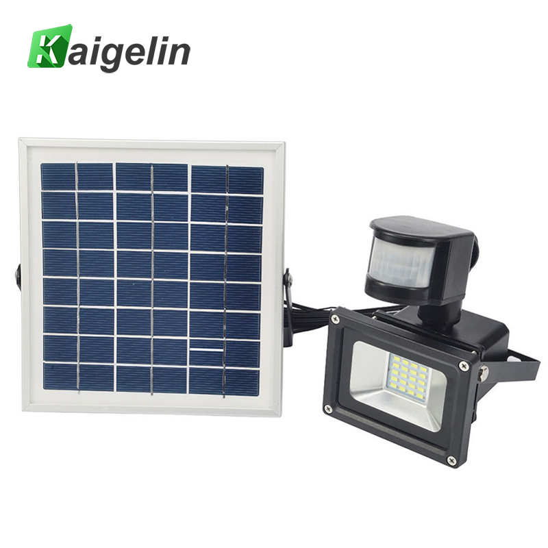 10W 12V Solar Powered LED Flood Light PIR Motion Sensor LED Floodlight IP65 SMD5730 Solar Floodlight Solar Powered Garden Lamp цена