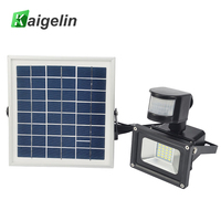 10W 12V Solar Powered LED Flood Light PIR Motion Sensor LED Floodlight IP65 SMD5730 Solar Floodlight Solar Powered Garden Lamp