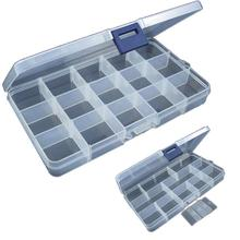 First Class 15 Slots Adjustable Plastic Fishing Lure Hook Tackle Box Storage Case Organizer Free Shipping ST22
