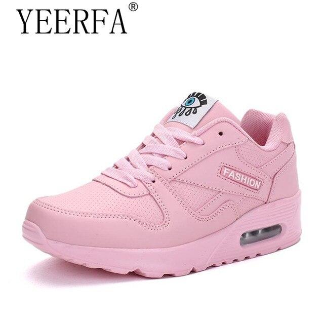 68654d9c068 YIERFA 2018 Mulheres Da Moda Primavera Sapatos Tenis Feminino Sapatos de  Caminhada Ao Ar Livre Sapatos