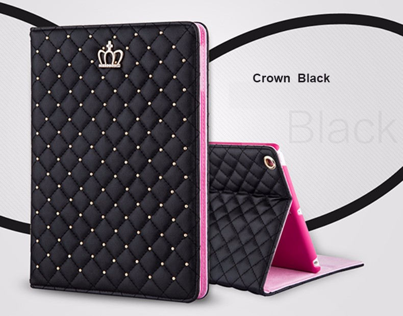 Bling Crown Coque for iPad mini 1 mini 2 mini 3 Case Luxury Stand A1432 A1454 A1490 Cover for iPad mini 1 2 3 Luxury Cover (3)