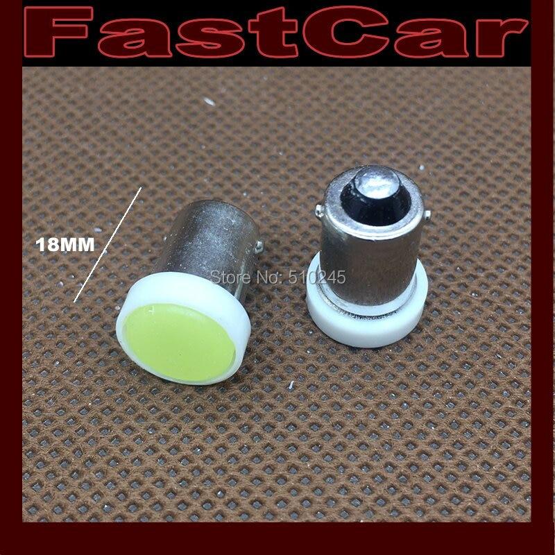 100X wholesale 1SMD BA9S 1 LED SMD Width Lamp COB 12V car wedge light bulb car signal lighting Free shipping