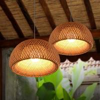 Chinese bamboo chandelier creative dining room living room bedroom balcony lamps zb26