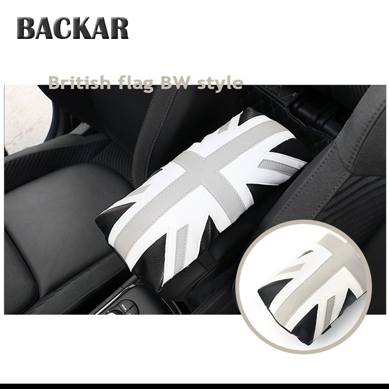 Backar Car Armrest Cushion Covers For Acura Chevrolet Cruze Aveo Peugeot 307 308 Seat Leon Mazda 3 6 CX-5 Leather Accessories