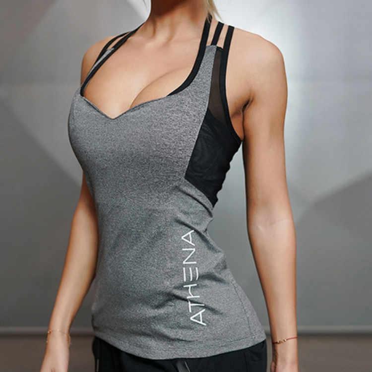 4d5137fa0 Yoga Top Women Sleeveless Running Tight Elastic Sexy Sports Tank for Fitness  Gym Women's Sports Tank