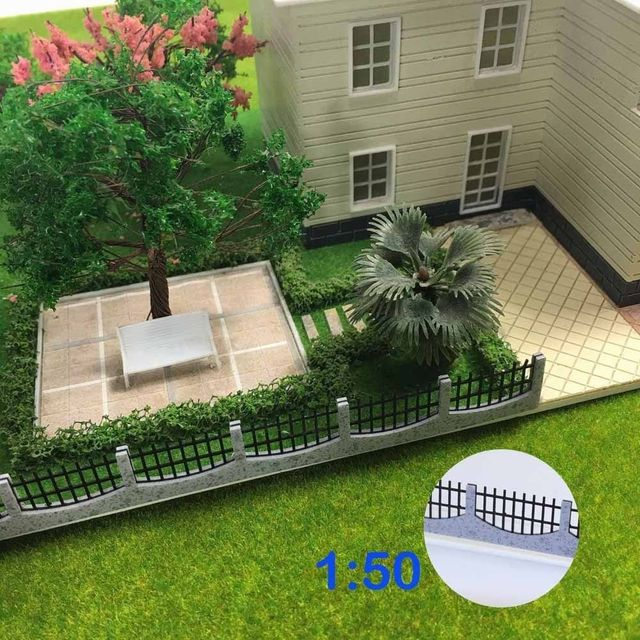 US $8 49 |3PCS 34 5cm Fences Model Train Railway Building Fence Railing  1:50 O Scale New GY47050 model building kit railway modeling-in Model  Building