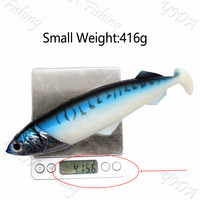 Big Size Soft Fish Bait 26cm 416g/556g Deep Sea Fishing Lures Swimbait Isca Artificial Simulate Soft Bait Lure Fishing Tackle