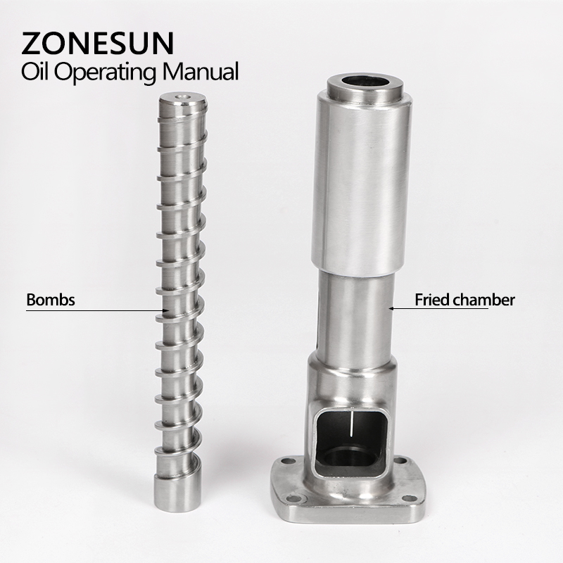 ZONESUN 1 Sets ( screw shaft + press cage ) For OPM-01 Automatic Small Oil Press Machine Stainless Steel Cold Press Hot Press brand new home cold press small oil screw press machine nut
