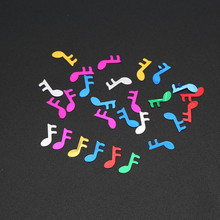 6mm Colourful Music Sparkle confetti romantic wedding decoration party table Scatters Birthday bachelorette Party Supplies