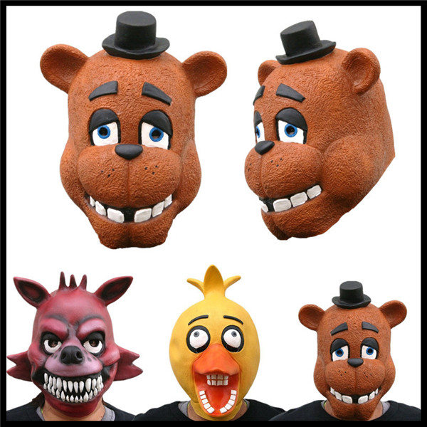 halloween party cosplay adult latex baby chica freddy fezbeer foxy five nights at freddys 4 adult mask fnaf cosplay costume toy in party masks from home