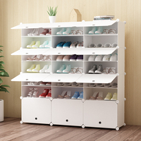 Furniture DIY Shoe Cabinet Storage Large Capacity Shoes Rack Home large removable shoe storage organizer for home shoe cabinet