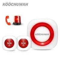Koochuwah Tasto di Panico di SOS di Allarme GSM SMS di Notifica Di Emergenza Pulsante di Chiamata Automatica Anziani Allarme per Non Valido/Disabili/ vecchio