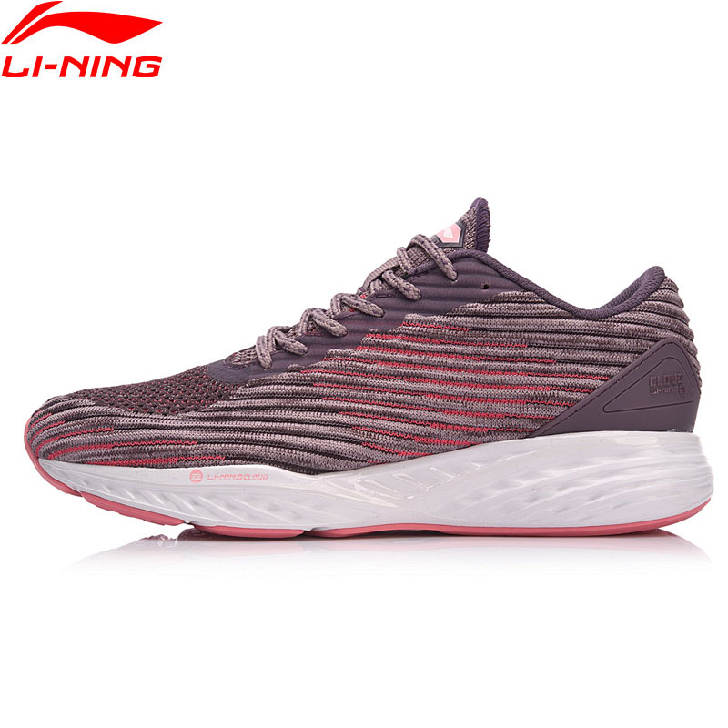 Li Ning Women LN CLOUD Cushion Running Shoes Mono Yarn LiNing Sport Shoes Breathable Footwear Sneakers