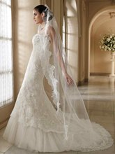 11-17 Beautiful Sweetheat Tulle Long Trailing Mermaid Lace Wedding Dresses