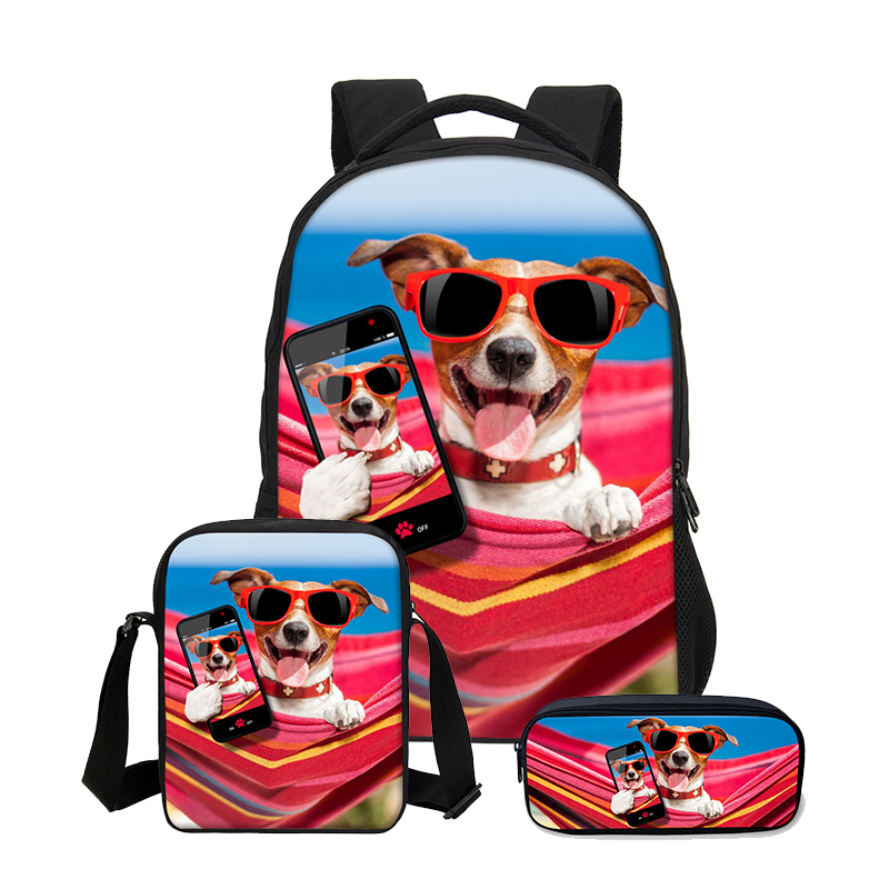2019 VEEVANV 3pcs/Set Shoulder Bags Girls Cute Dog Prints Bag School Backpack Children Combination Bookbag Fashion Daily Mochila2019 VEEVANV 3pcs/Set Shoulder Bags Girls Cute Dog Prints Bag School Backpack Children Combination Bookbag Fashion Daily Mochila