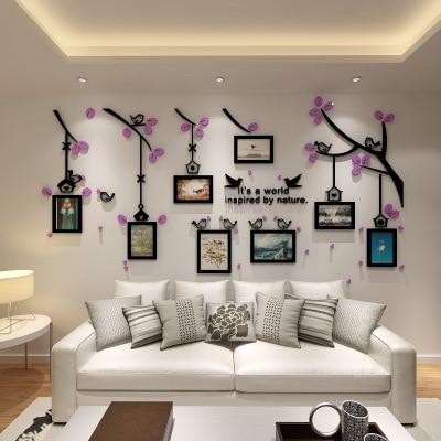 Stereo Stiker Foto Dinding Akrilik Burung Pohon Ruang Anak Dekorasi Tamu Tv Sofa Di Wall Stickers Dari Rumah Taman