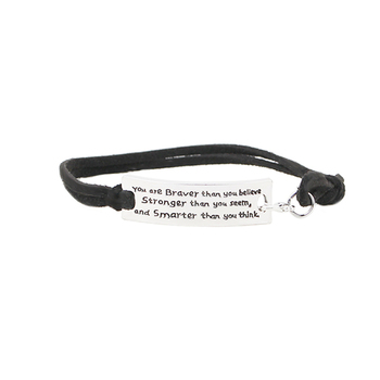 You are braver than you believe stronger than you seem and smarter than you think Inspirational Bracelet image