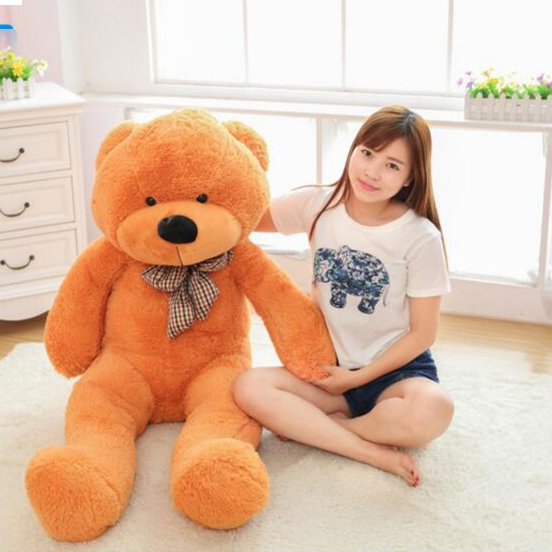 200cm Giant Teddy Bear Lovely Teddy Bear Plush Toys Big Toys Animals Bear Children's Birthday Gift Kids Stuffed Plush Toys Doll 1 piece light brown high quality low price stuffed plush toys large size100cm teddy bear 1m big bear doll lovers birthday gift