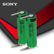 Bateria recarregável 100% original, bateria aa 680mah vr2 14500 v li-ion 3.7v com soldagem