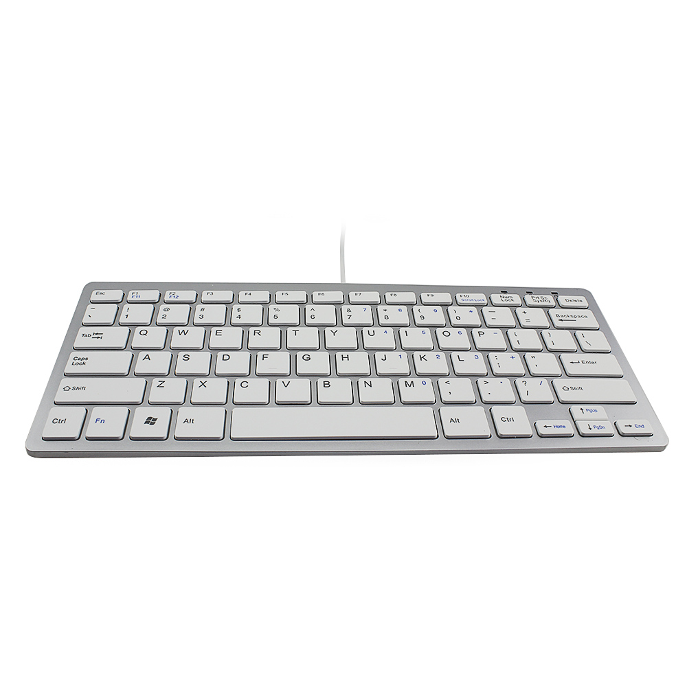super thin mini wired keyboard for desktop pc android windows ios telecommuting gaming in. Black Bedroom Furniture Sets. Home Design Ideas