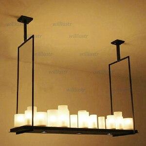 Image 3 - העתק קווין ריילי מזבח תליון מנורת LED נר נברשת בציר אור רטרו מתכת קבועה השעיה שליטה מרחוק אור