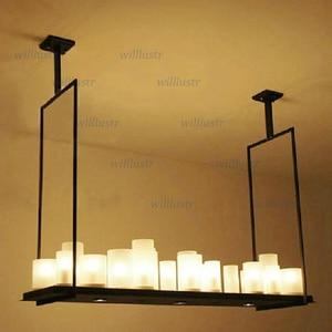 Image 3 - Replica Kevin Reilly Altar Pendant lamp LED candle chandelier vintage Light retro metal fixture Remote Control suspension light