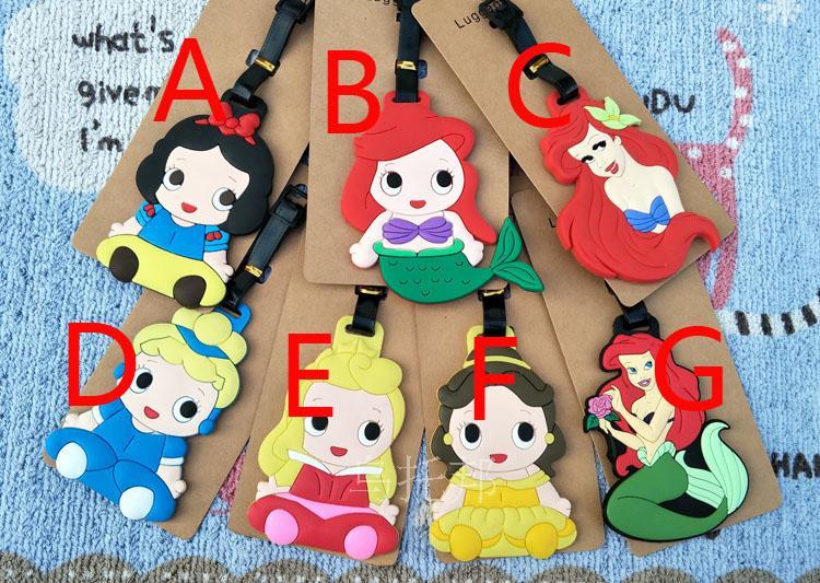2018 Maleta De Viaje Lovely Mermaid Snow Princess Patti Baer Fish Beauty Soft Gelatin Luggage Tag Boarding Cartoon Cute Card