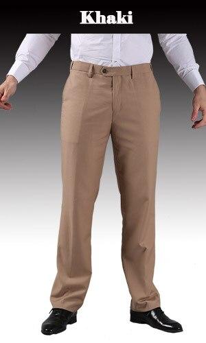 Тонкие брюки мужской формальный деловой Slim Fit Свадебный костюм брюки Diamond синий цвет красного вина черные брюки Размеры 44 плюс Размеры A37 - Цвет: khaki
