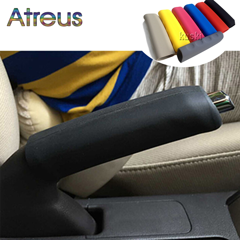 Atreus Silicone Car Handbrake Hand Brake Grips Covers For BMW F30 Ford Focus VW Golf 4 Mazda Toyota Corolla Renault Peugeot 307