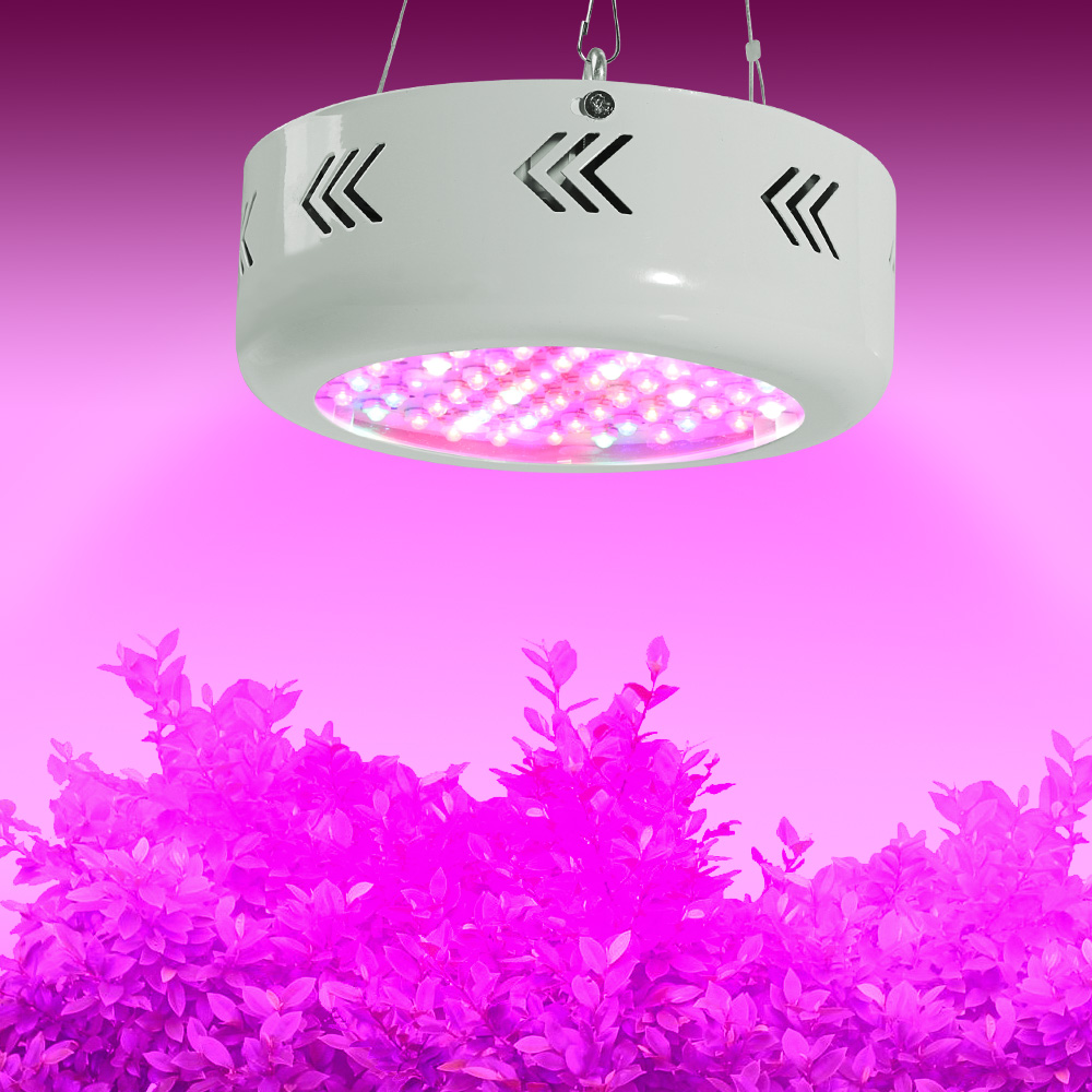 Full Spectrum 216W UFO LED Grow Box Lights AC85~265V Hydroponics Plant Lamp Ideal for All Phases of Plant Growth and Flowering 300w grow led light ufo full spectrum 277leds smd5730 plant grow lamp for hydroponics system aquarium grow tent flowering