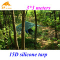 Apenas 510 gramas 3f ul gear 3*3 metros de nylon 15d silicone revestimento de alta qualidade ao ar livre caming tent tarp