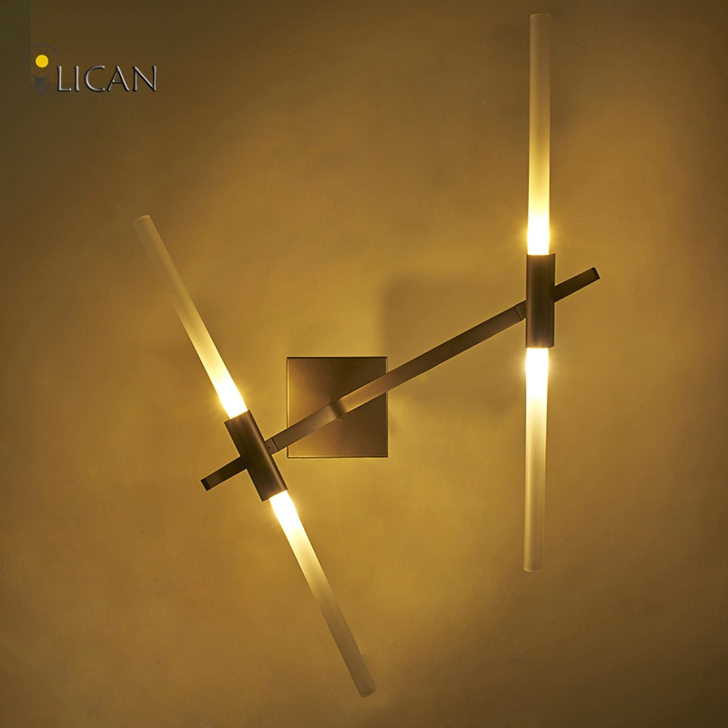 2017 Nordic living room bedroom bedside aisle creative LICAN iron wall Sconce lights Vintage wall fixture Luces Lampara de pared bdbqbl modern simple creative iron wall lamp led bedroom bedside living room lighting fixture lamparas de techo pared